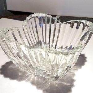 Vintage Glass Crystal Floral Cut Shaped Relish Ser